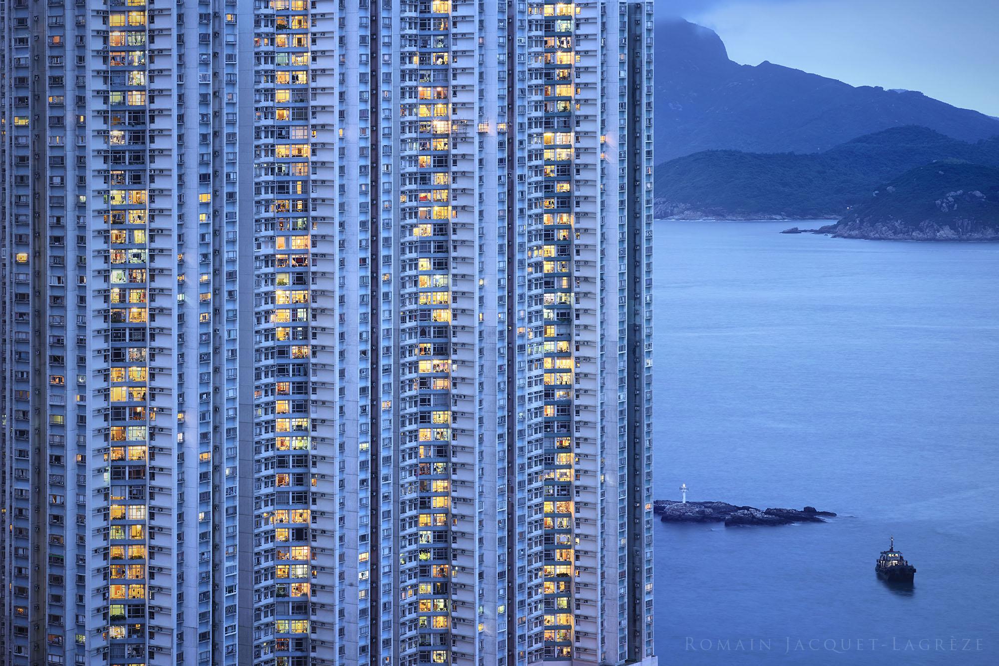© Romain Jacquet-Lagrèze, 'The Blue Moment' #6, Hong Kong 2015