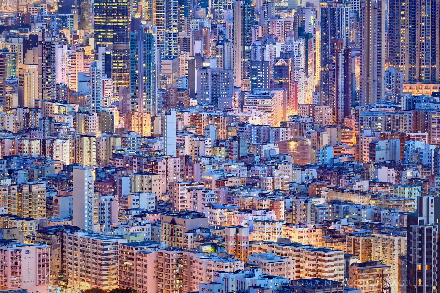 © Romain Jacquet-Lagrèze, 'The Blue Moment' #8, Hong Kong 2015