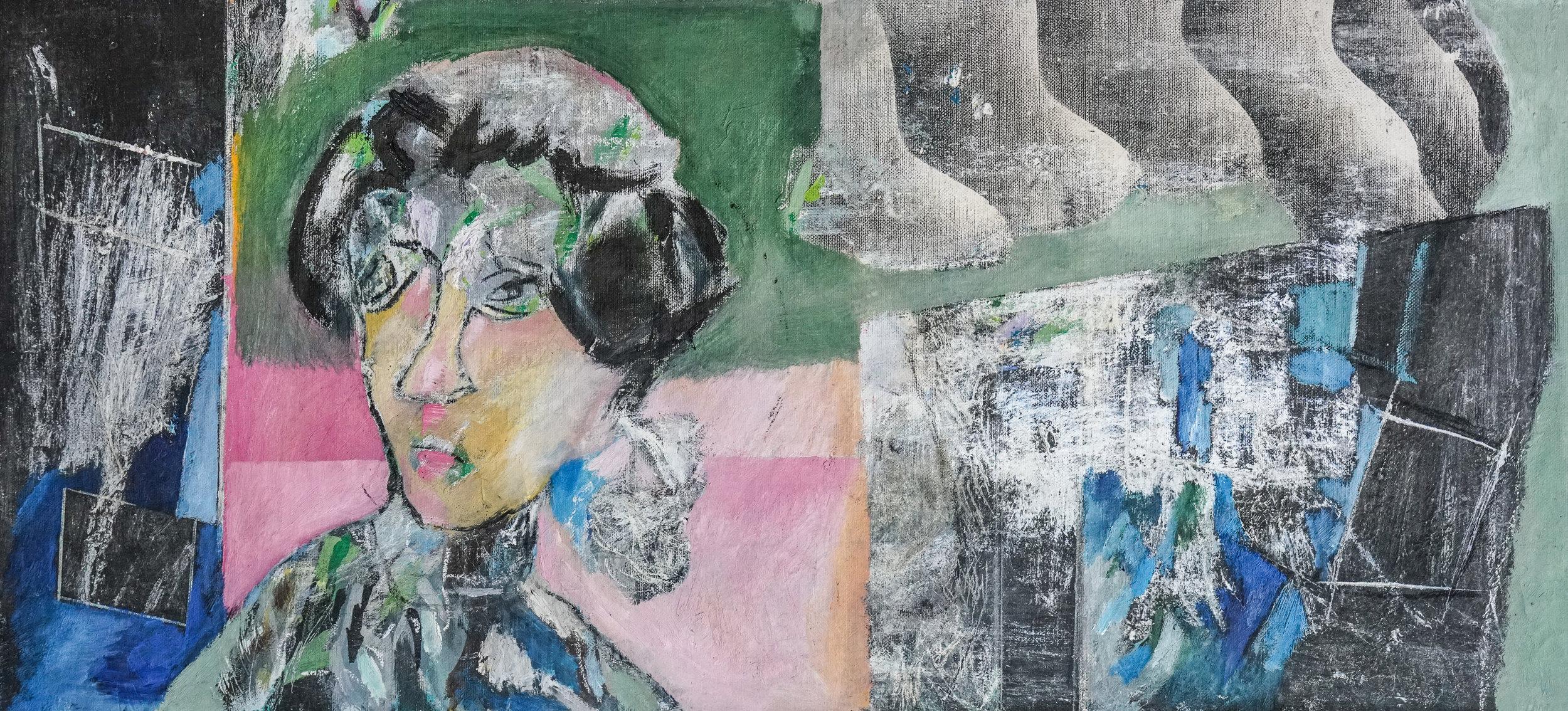 Lee du Ploy, Flory the Florist, Mixed Media, 50x100 cm.jpg