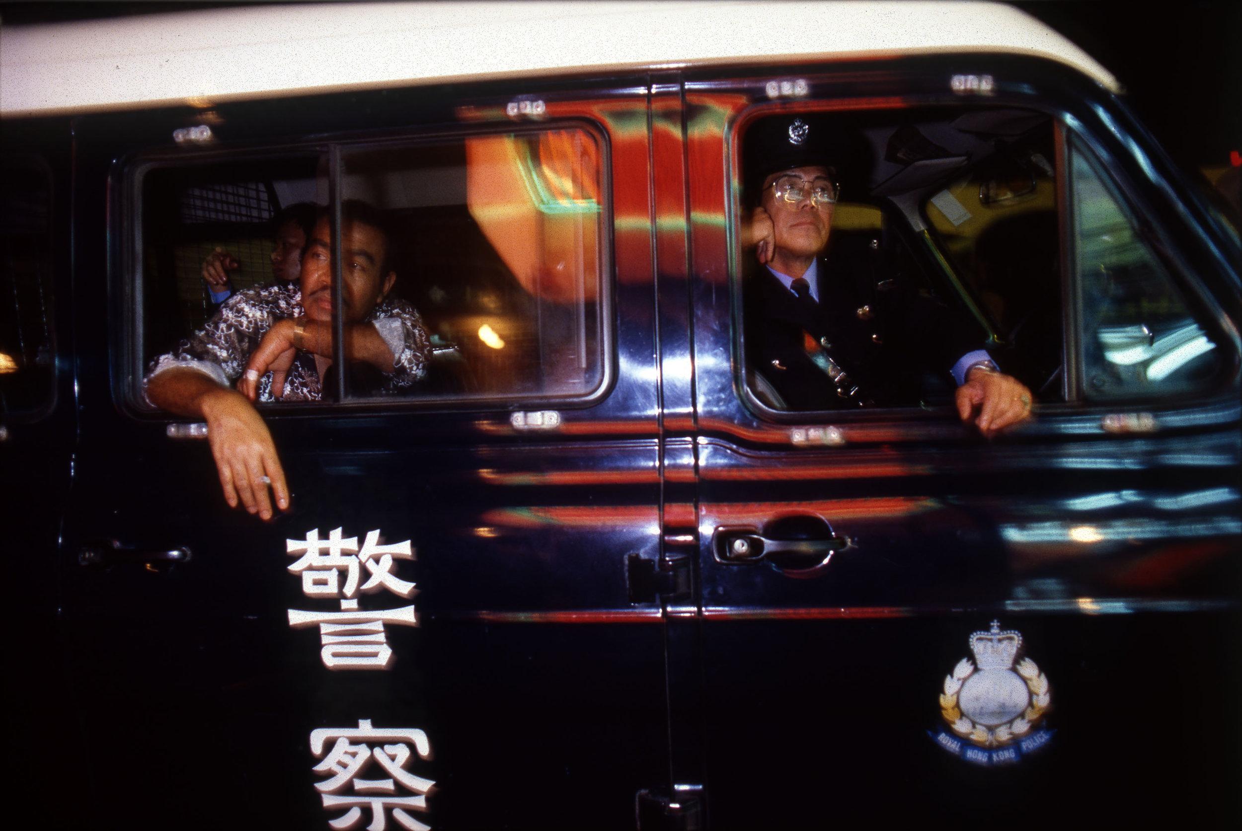 Greg Girard, Police Van, Wan Chai, 1985.jpg
