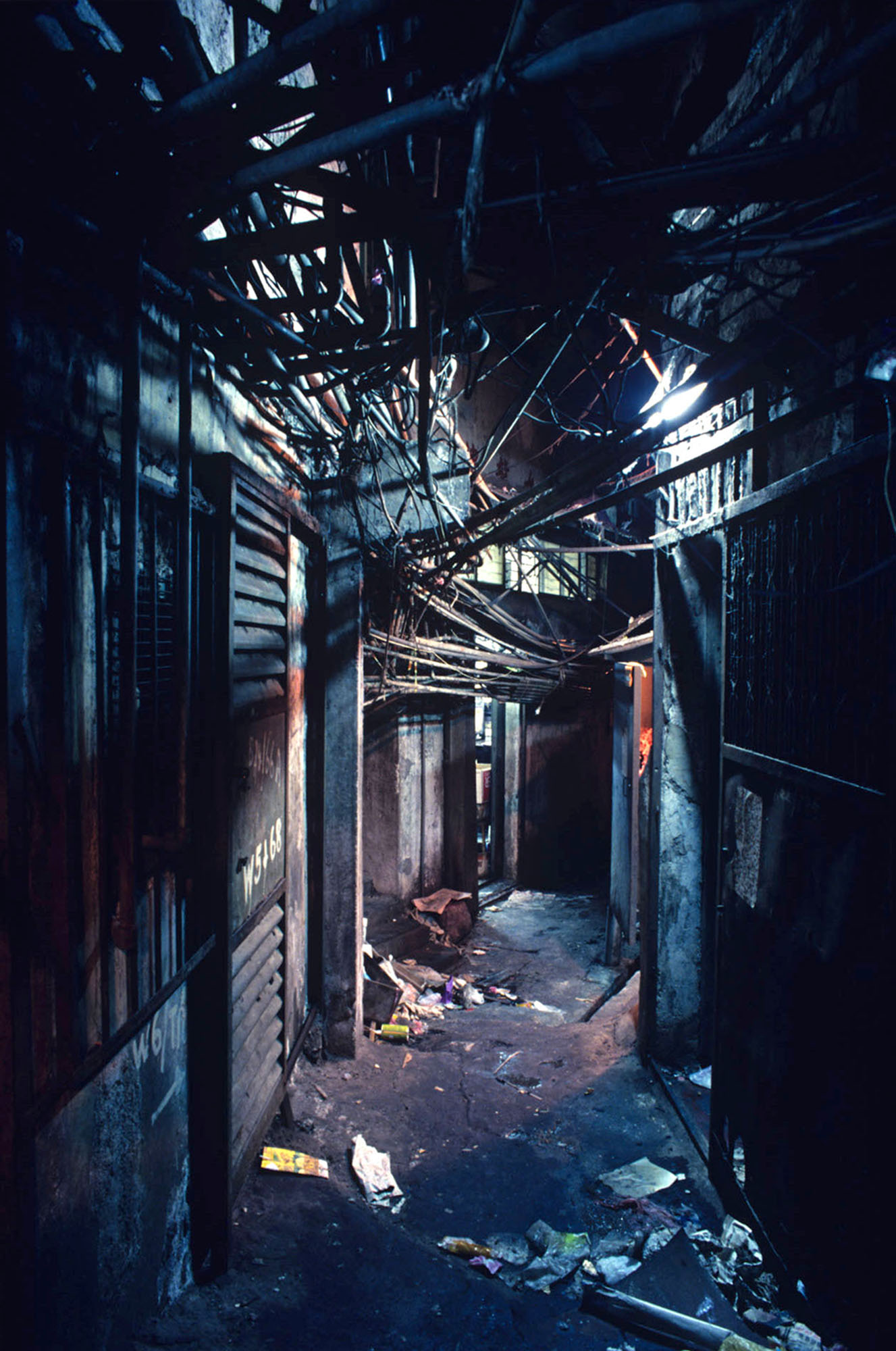 West Side Street (with Overhead Pipes), 1990