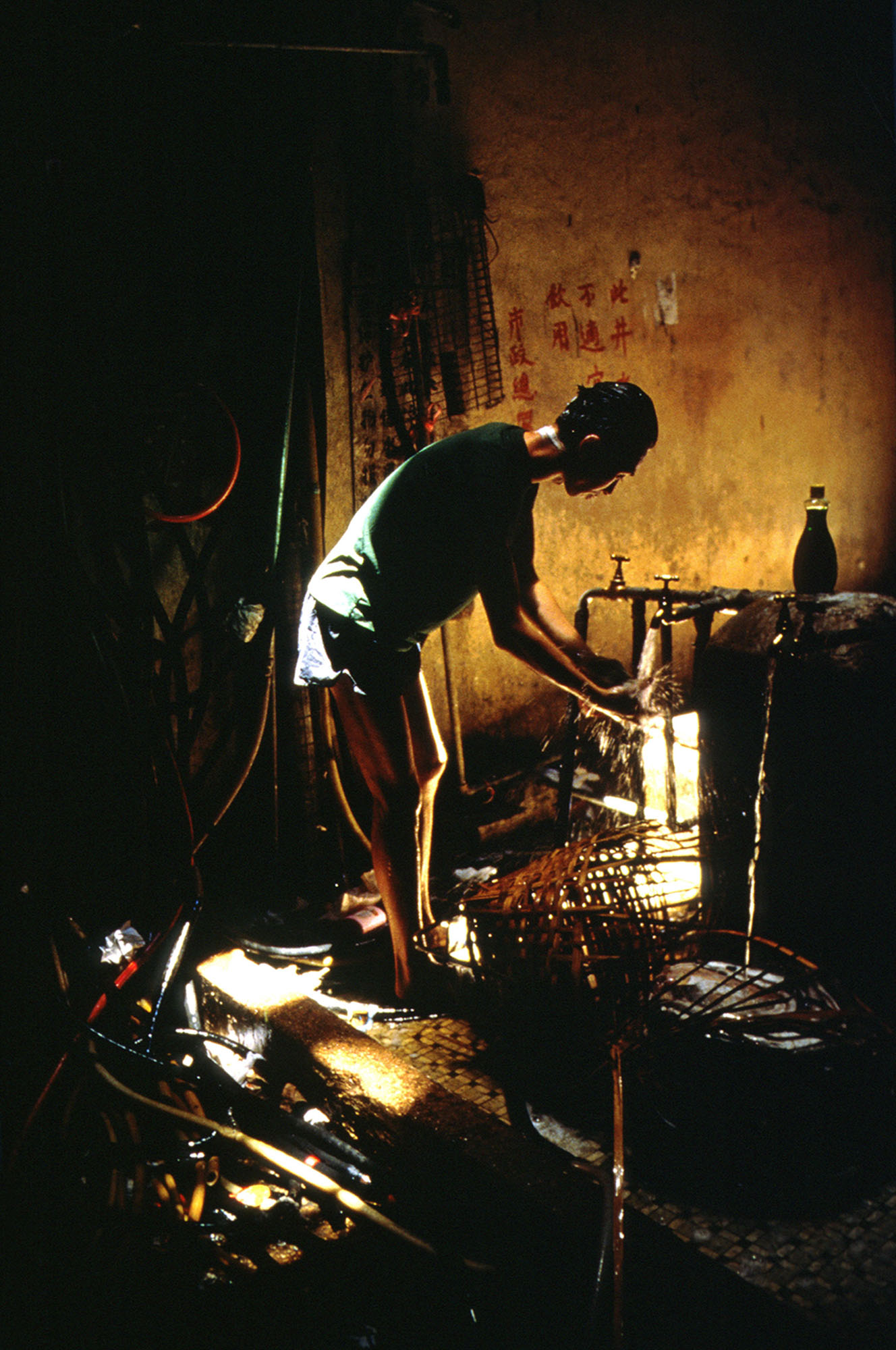 Washing at public standpipe, 1989