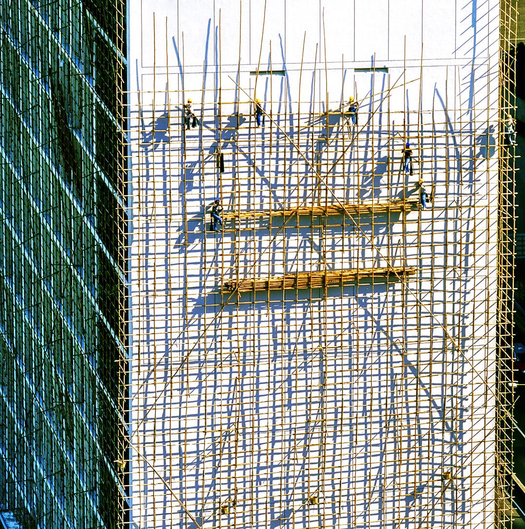 Scaffolders on City Hall