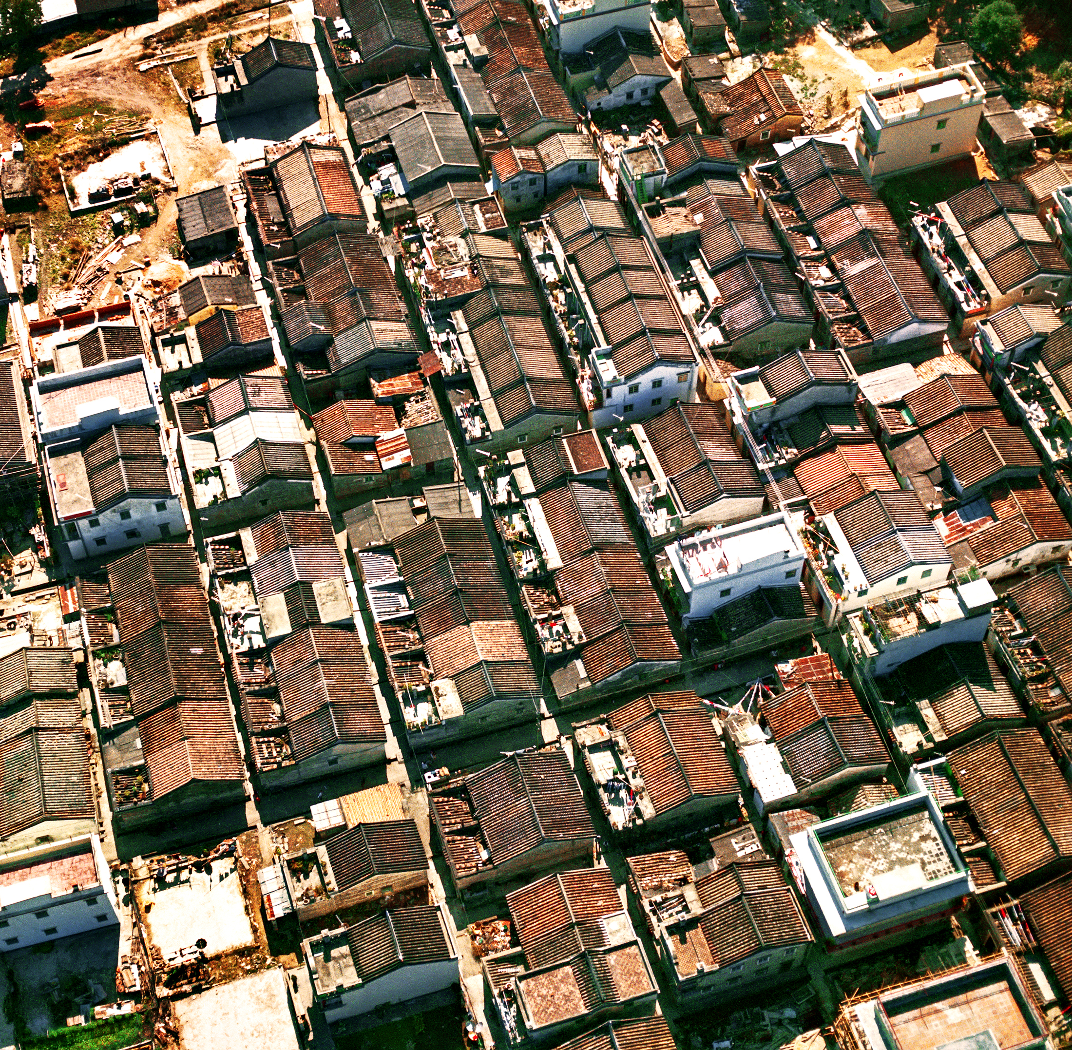 Fanling Village from the Air, 1980s
