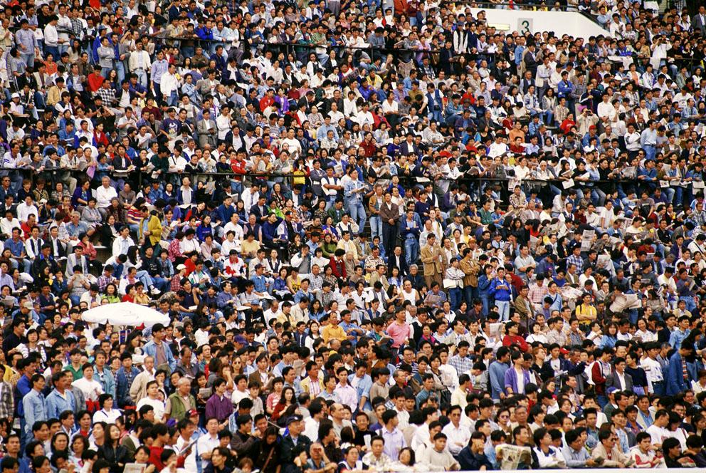 Race crowd Shatin, 1995