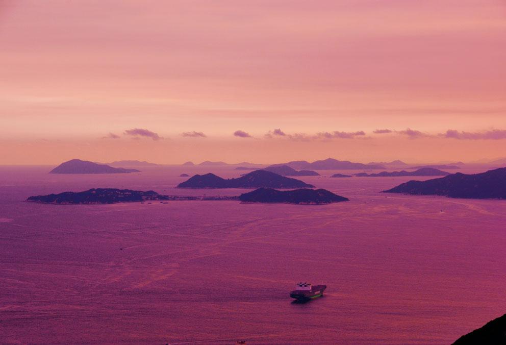 Over Islands towards Macau from the Peak, 1996