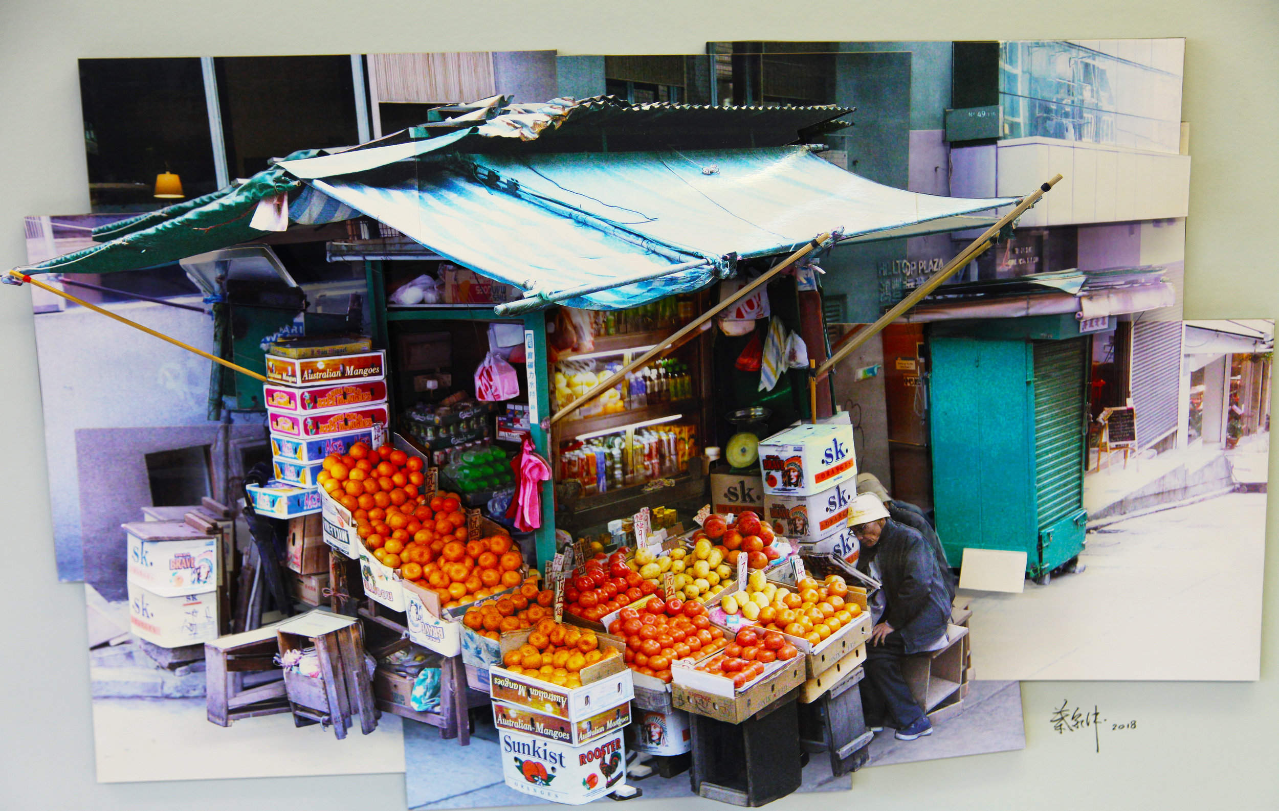 葉家偉 Alexis Ip '水果檔‧中環 Fruit Stall in Central' (Hong Kong, 2018) Courtesy of Blue Lotus Gallery.jpg