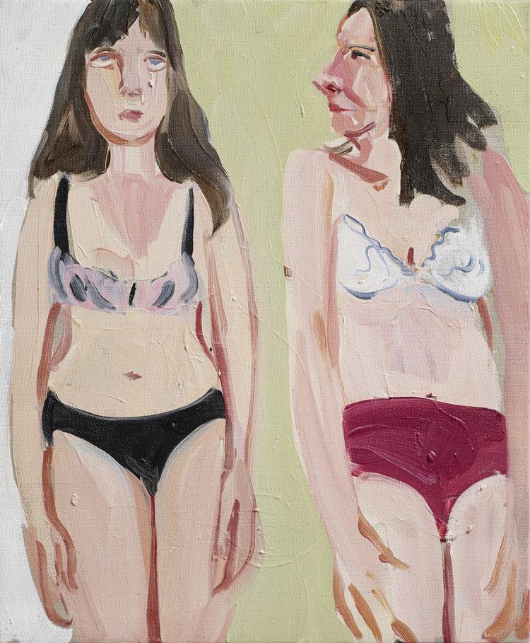 Chantal Joffe,  Self Portrait with Ishbel,  2014