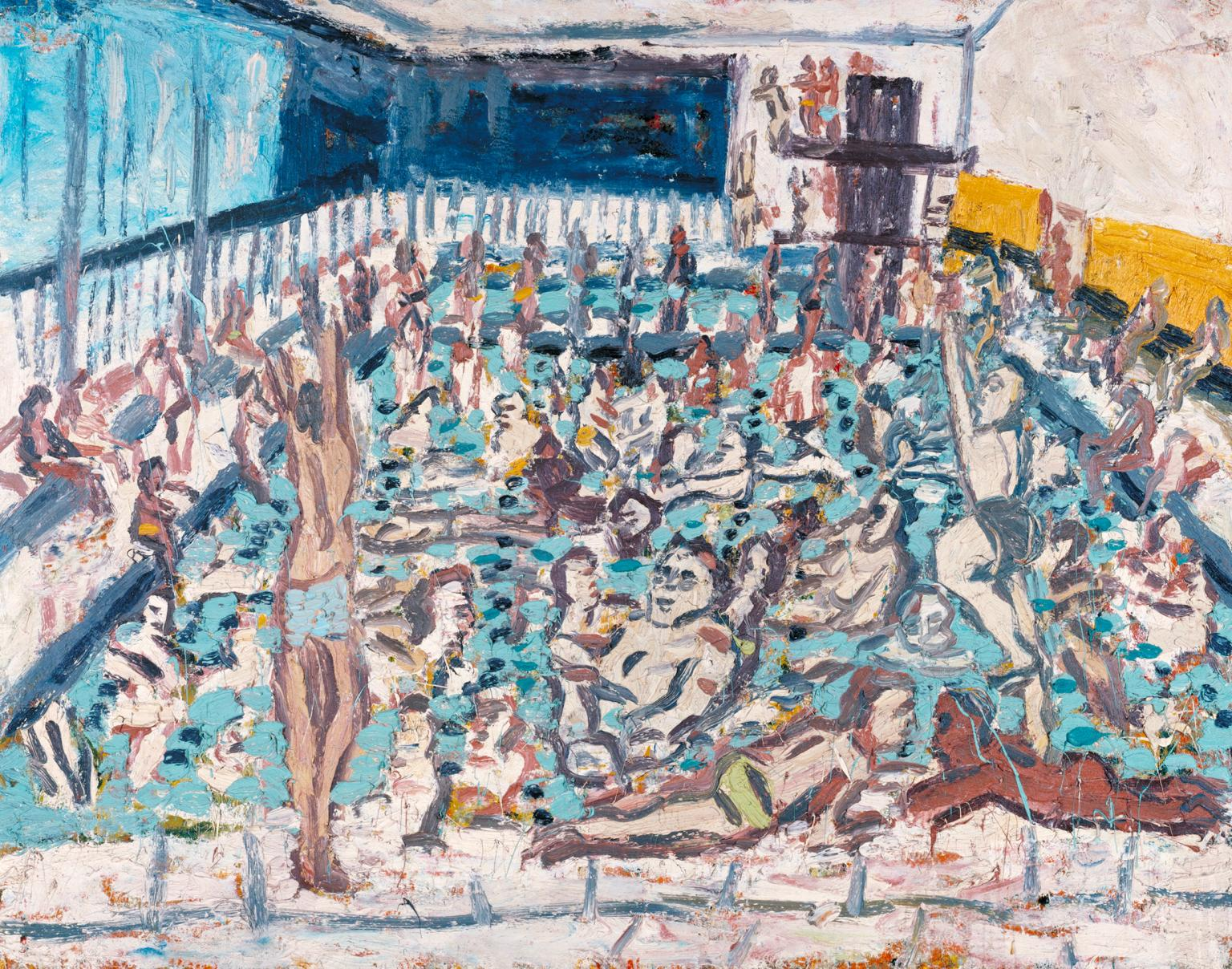 Leon Kossoff,  Children's Swimming Pool, Autumn Afternoon,  1971