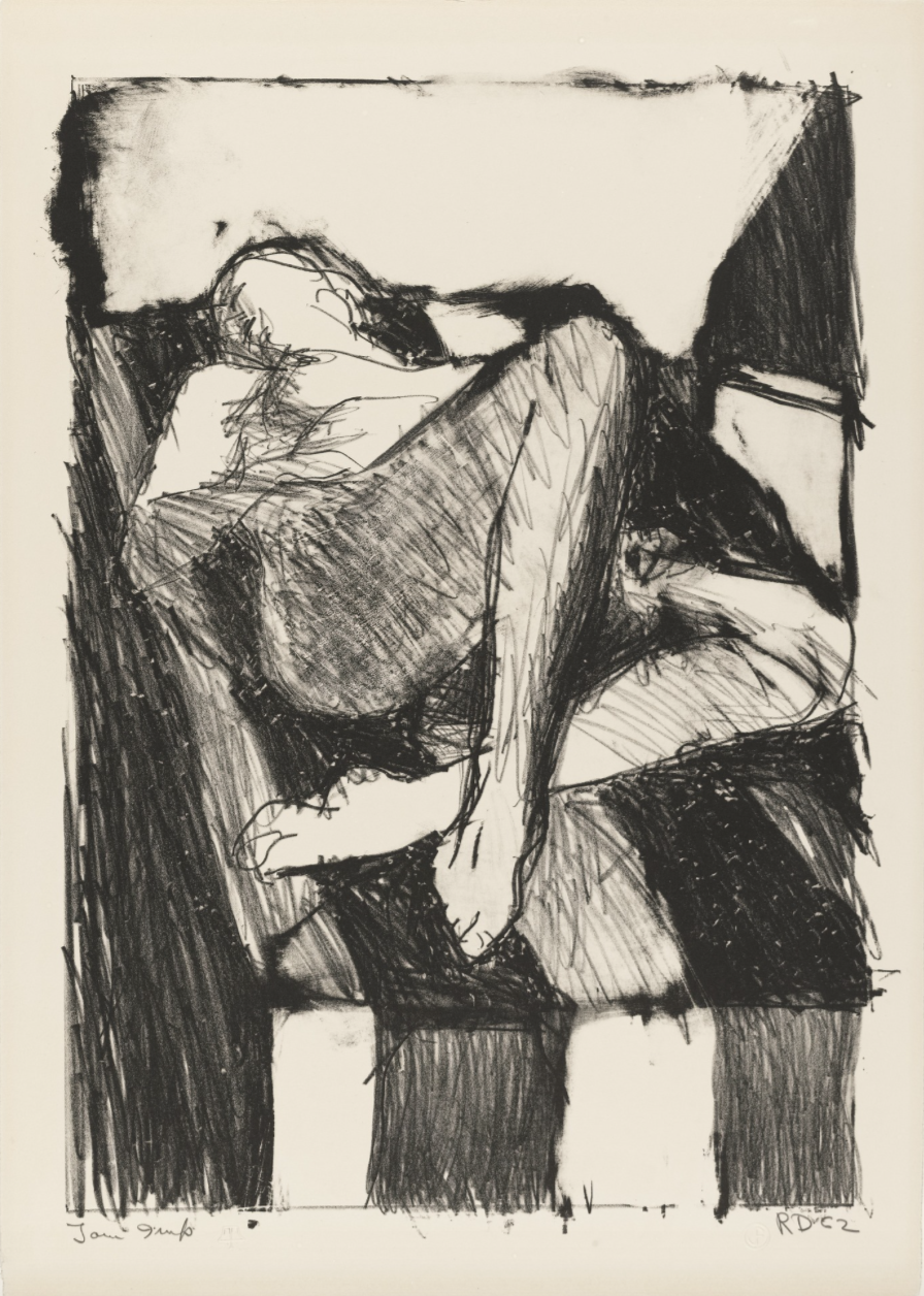 Richard Diebenkorn,  Reclining Figure I,  1962