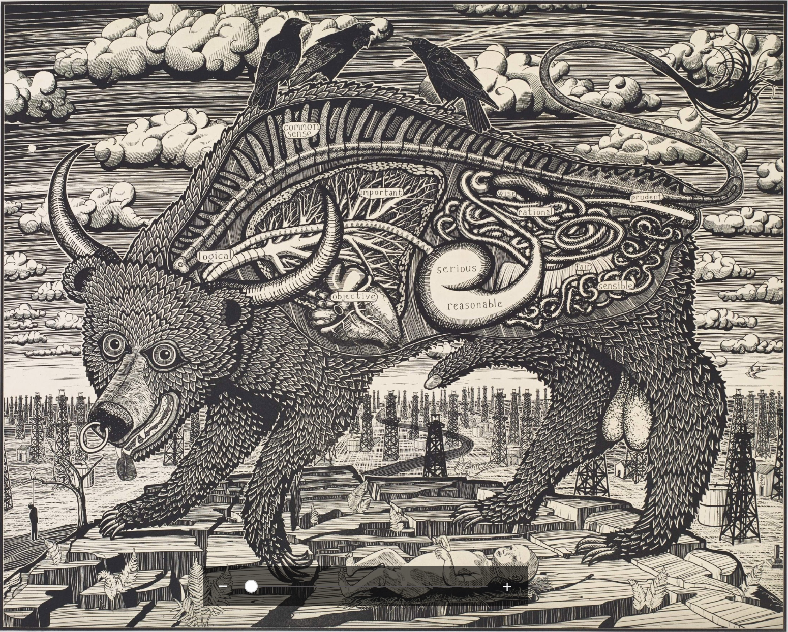 Grayson Perry,  Animal Spirit,  2016, etching with chine colle