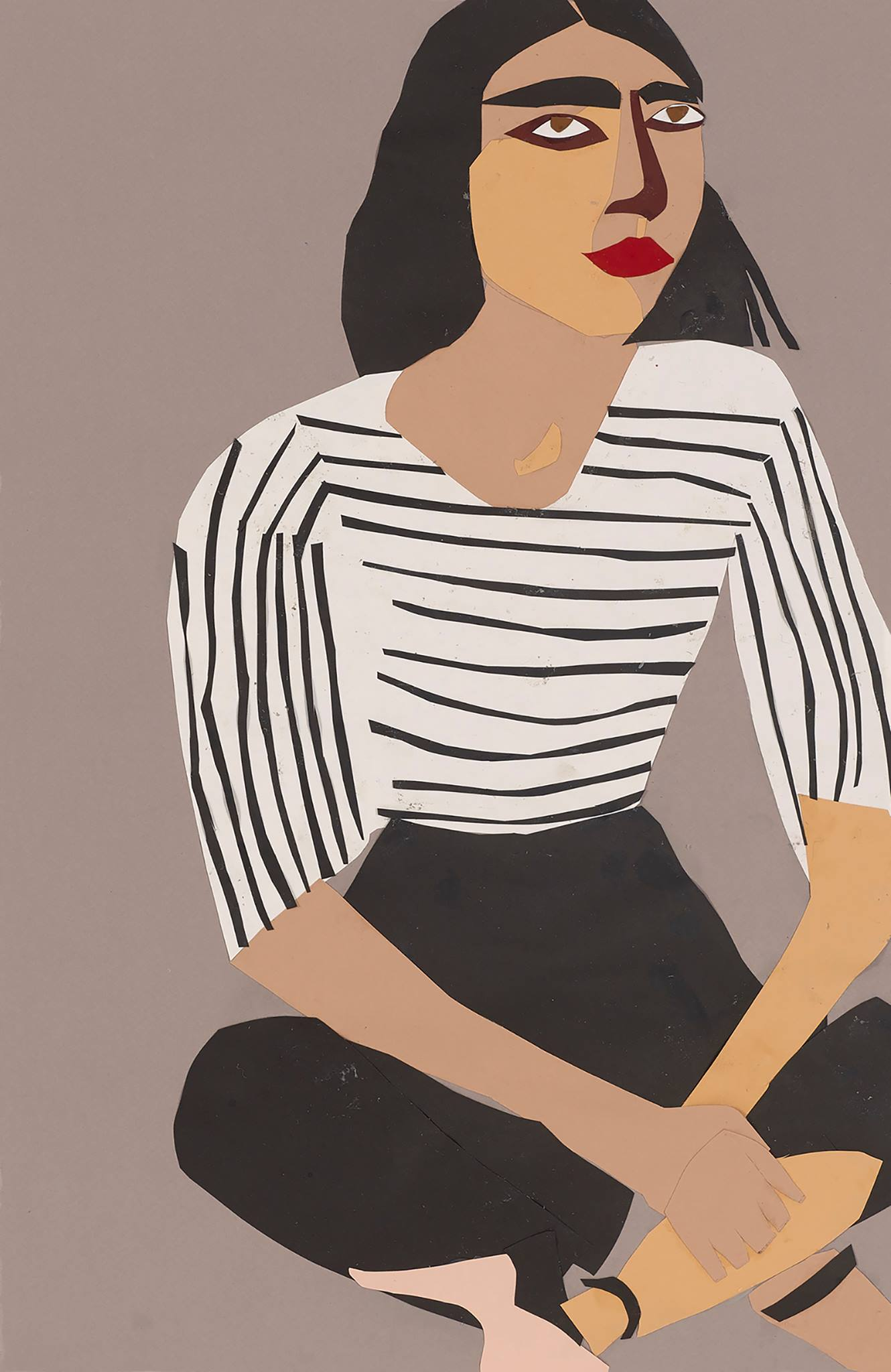 Chantal Joffe,  A Sunday Afternoon in Whitechapel  (detail) ,  2017