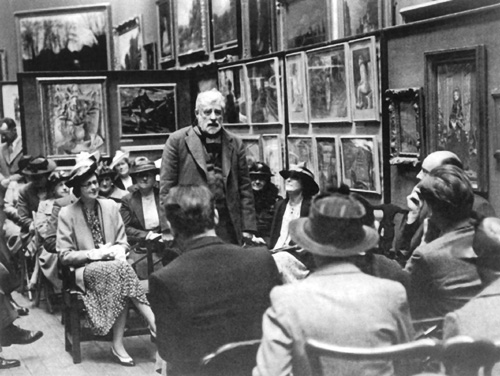Walter Sickert at the Victoria Art Gallery, Bath in 1939