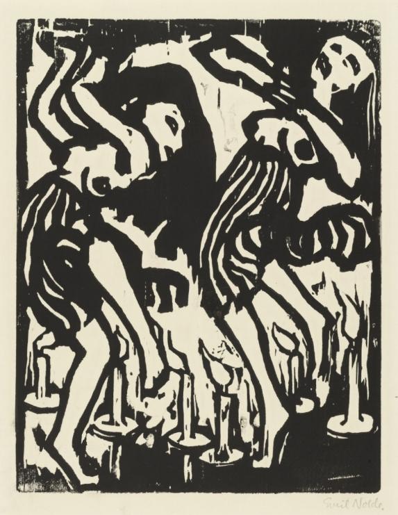 Emil Nolde,  Candle Dancers,  1917