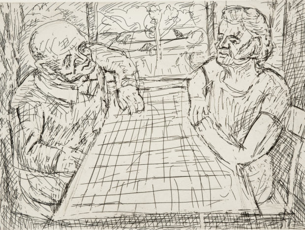 Leon Kossoff,  The Table by the Window,  1982