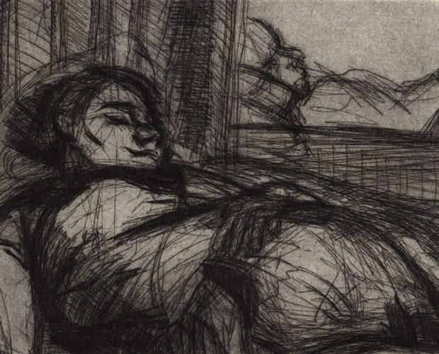 Celia Paul,  Pregnant Girl,  1991
