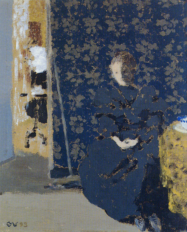 Édouard Vuillard,  Interior with Seated Figure,  1893