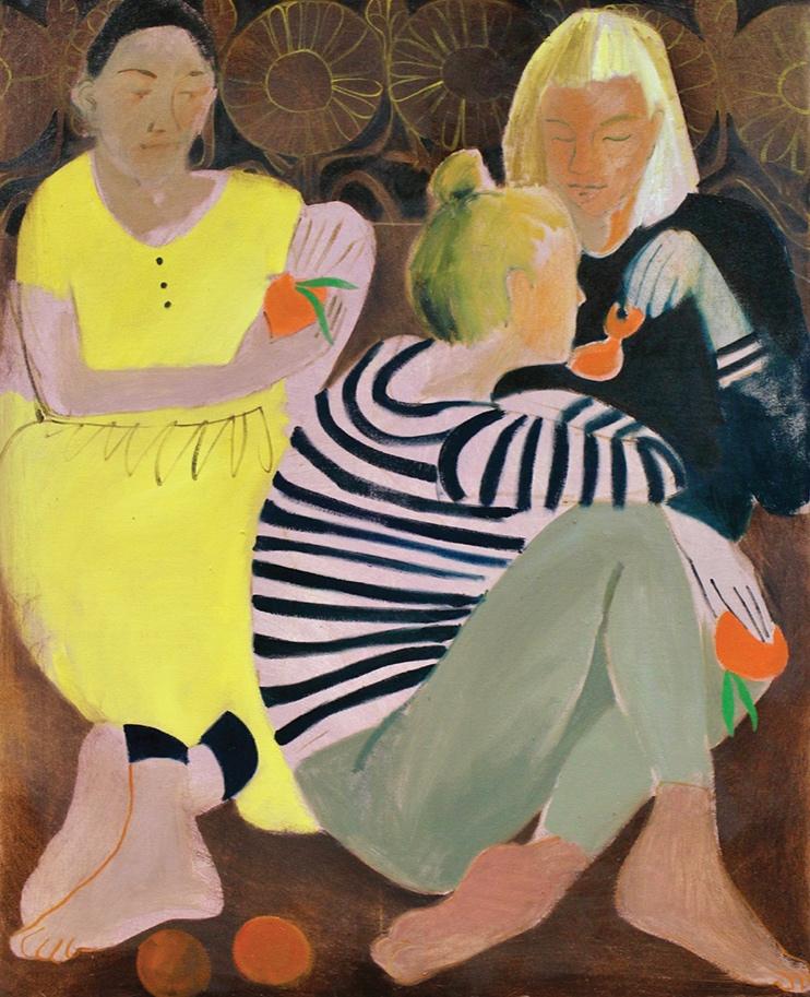 Nettle Grellier,  Easy Peelers,  oil on canvas
