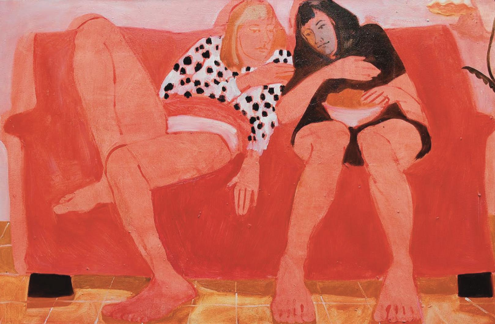 Nettle Grellier,  Zesty Resters,  oil on canvas