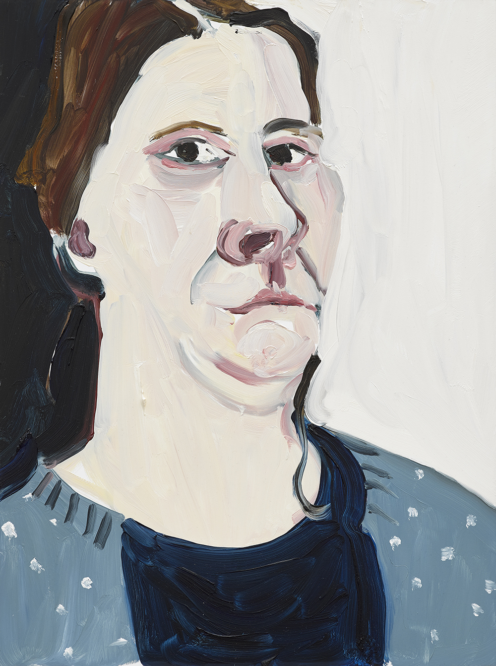 Chantal Joffe,  Self-Portrait, 1st January,  2018