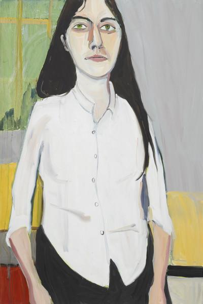 Chantal Joffe,  Esme in her School Shirt,  2019
