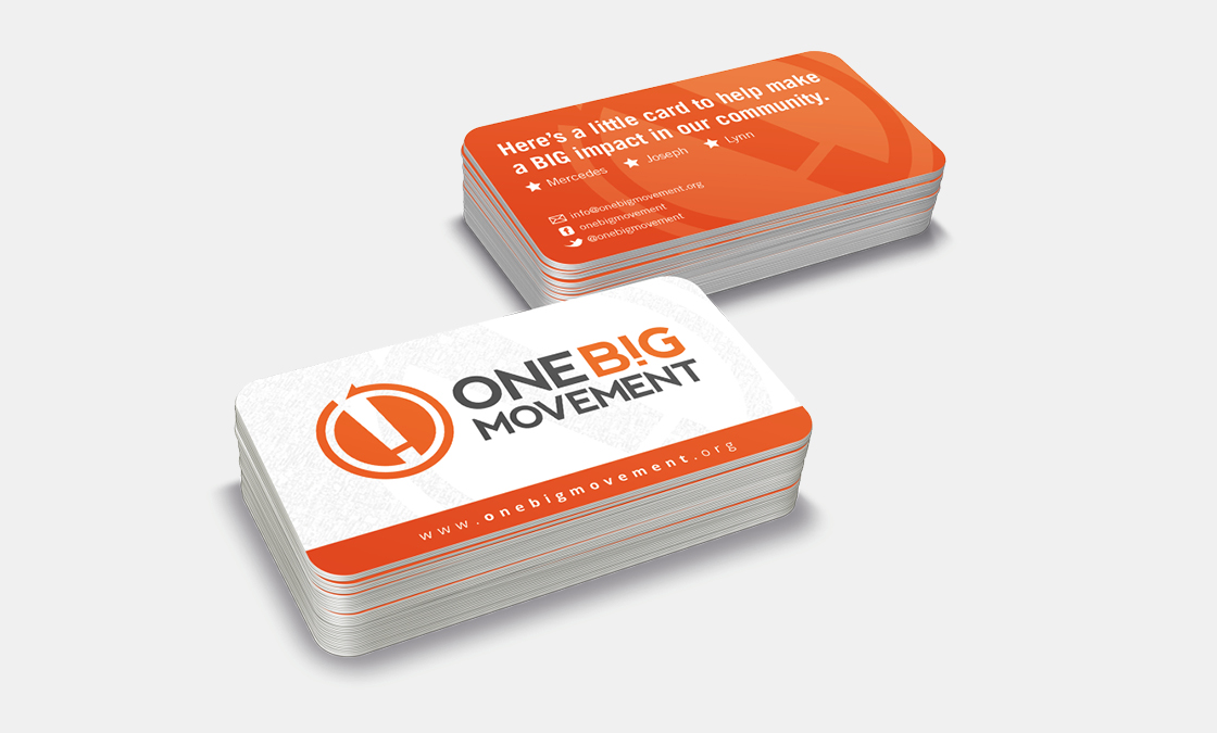 One Big Movement - Business Cards