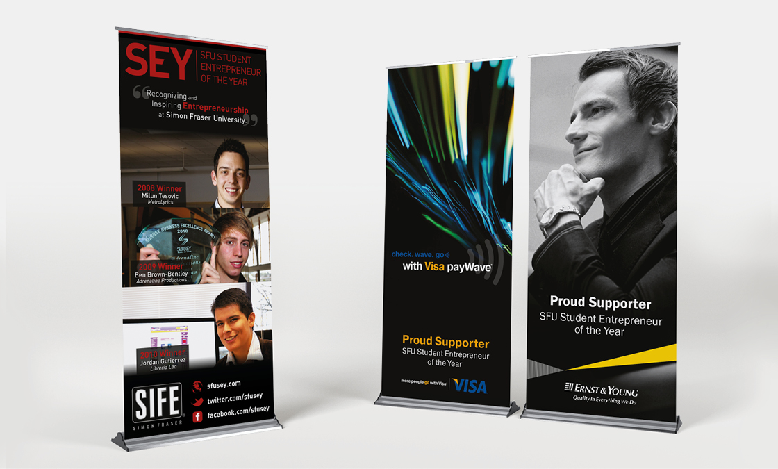 SFU Entrepreneur of the Year - Stand-Up Banners