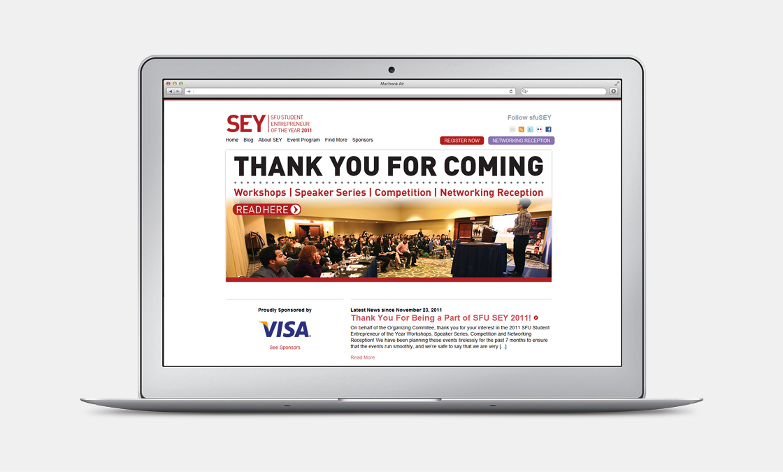 SFU Entrepreneur of the Year - Website