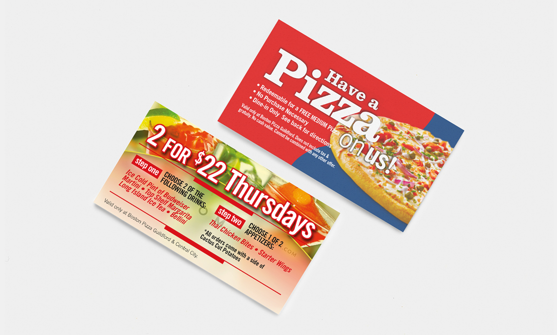 Boston Pizza - Discount Cards