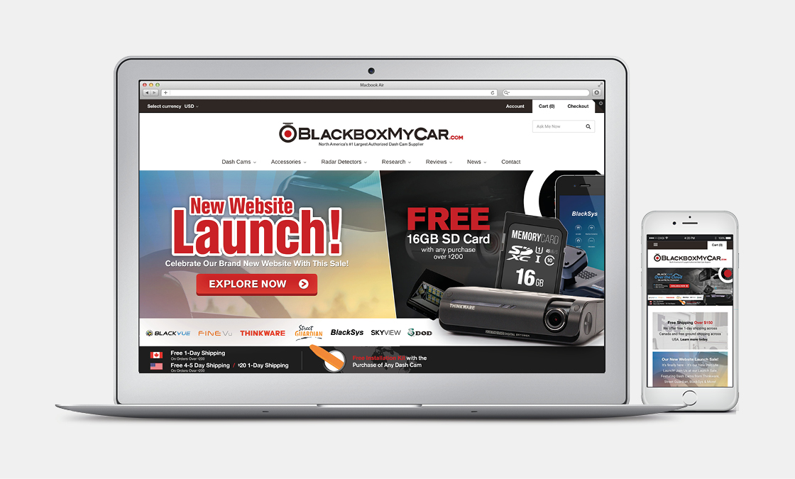 You can view the new website LIVE on the   new BlackboxMyCar website  .