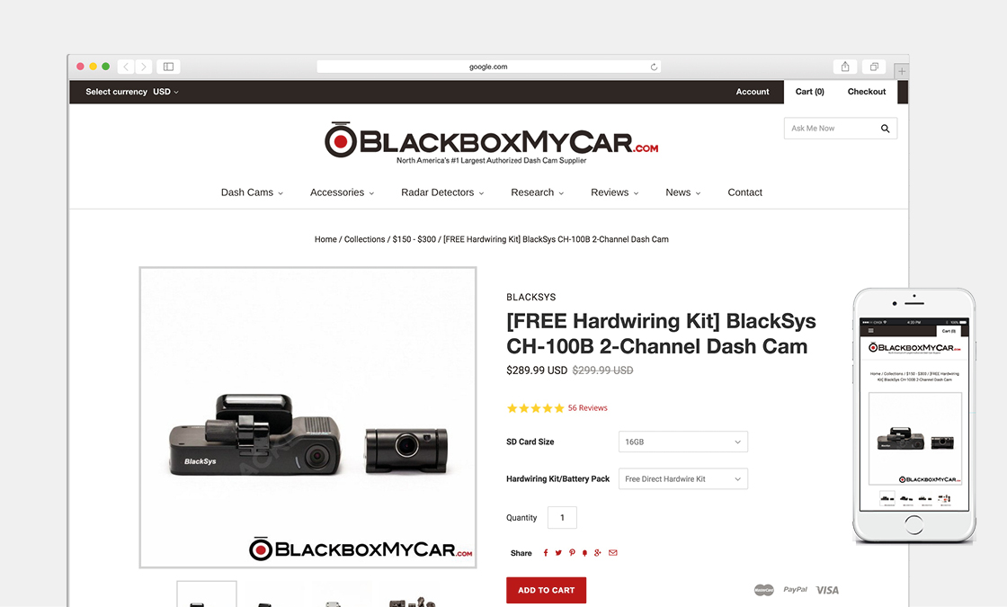 BlackboxMyCar - Mockup