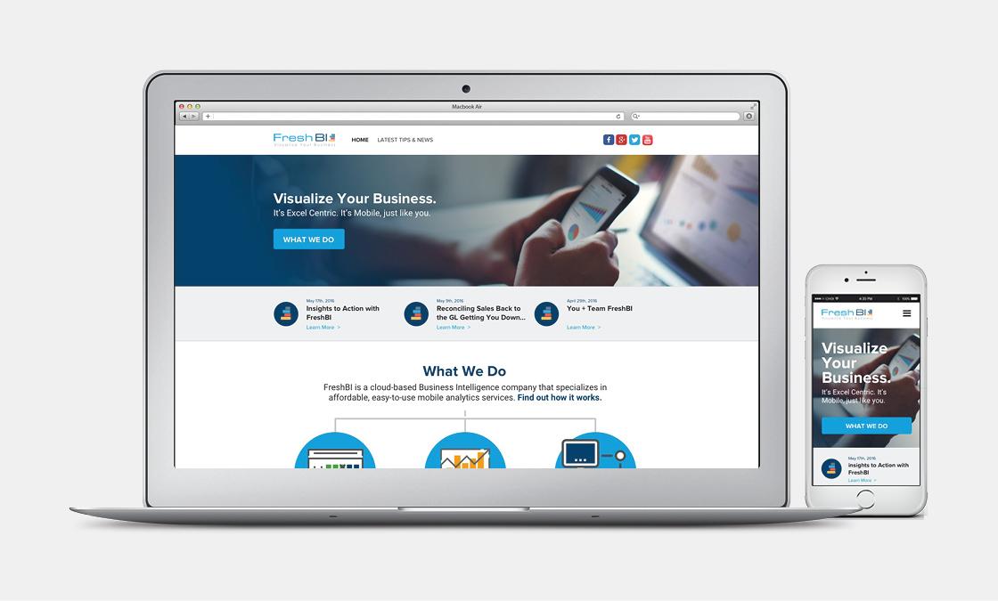 FreshBI - Website Mockup