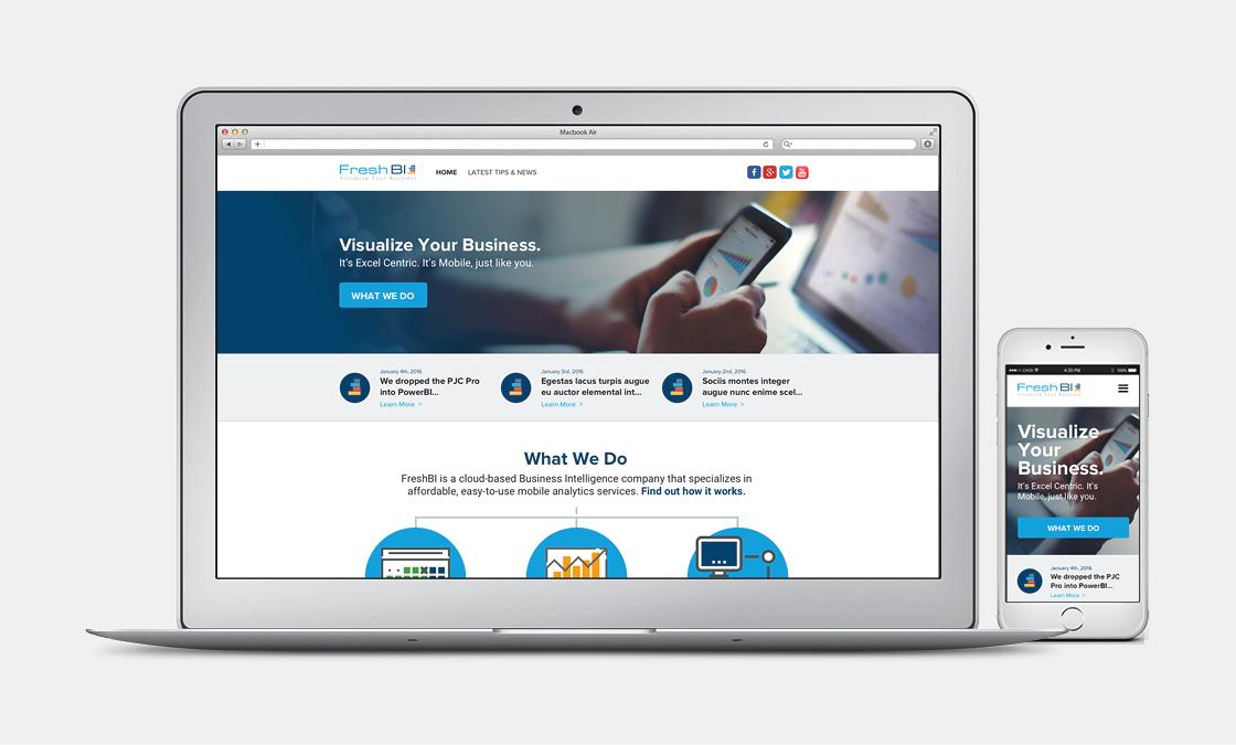 FreshBI 2.0, a Website Built on Wordpress