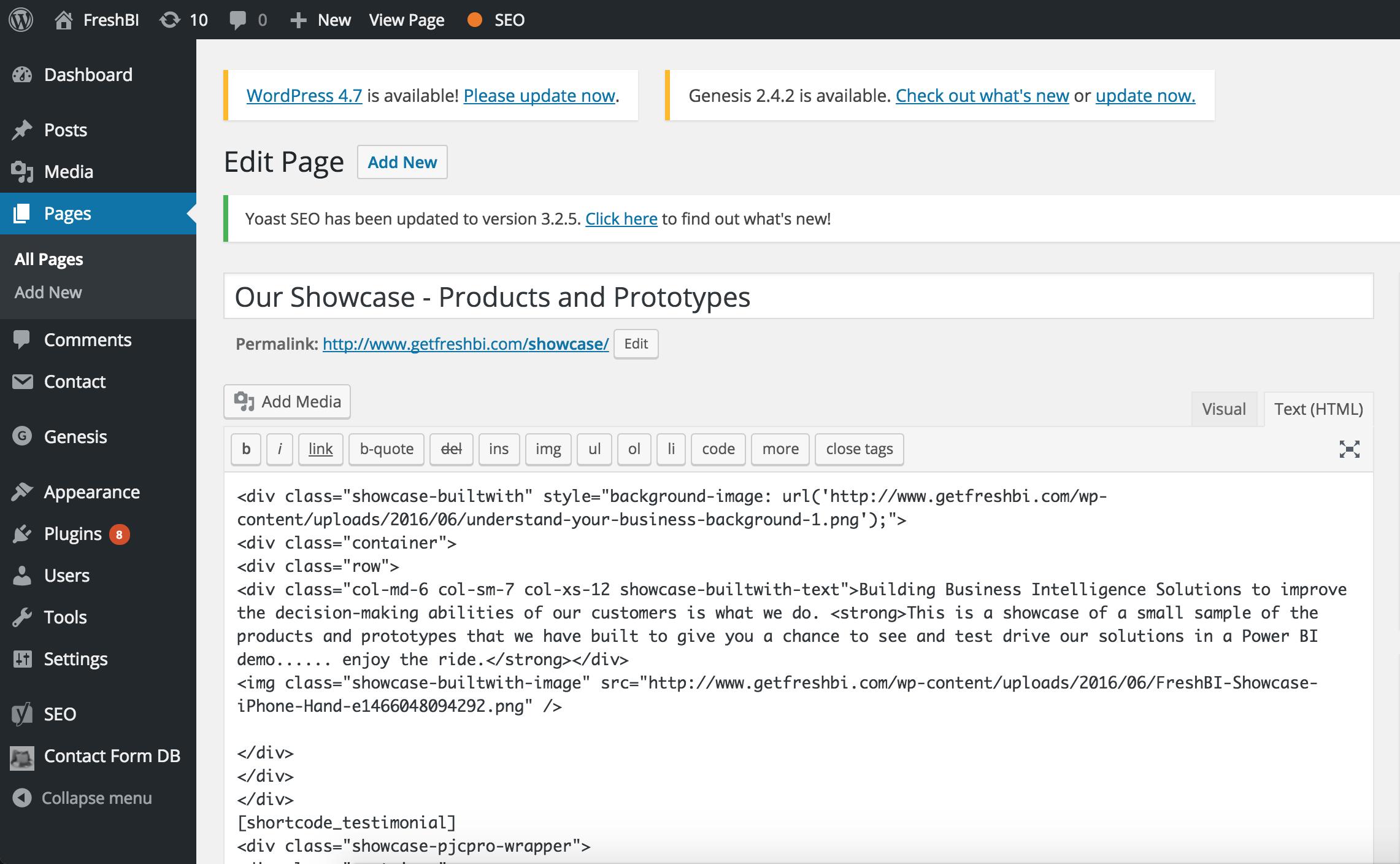 FreshBI - Wordpress