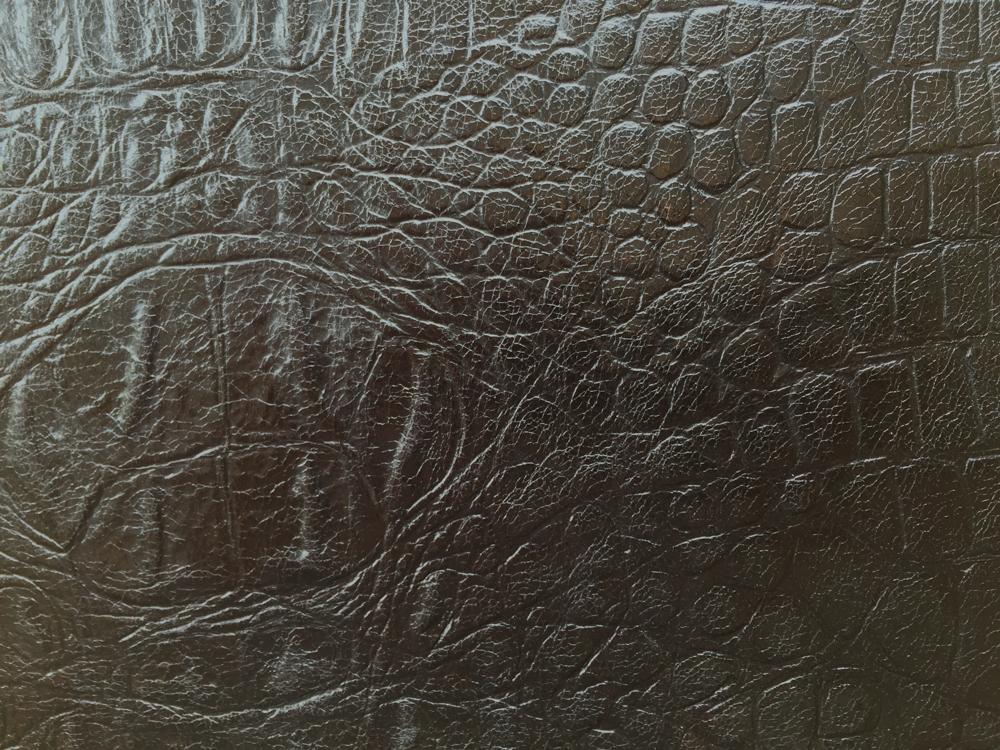 Standard Leather -  BLACK CROC