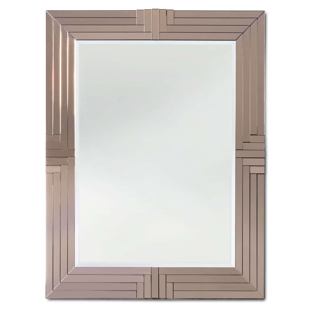 GATSBY MIRROR WITH SILVER BRONZE MIRROR SURROUND   Dimensions: W 120cm x H 150cm