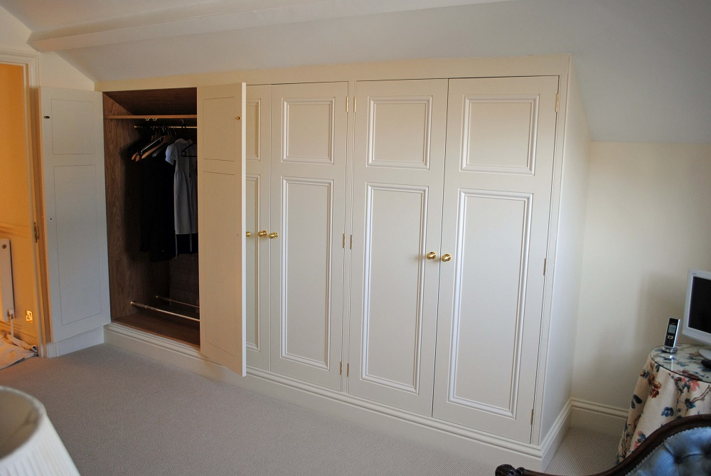 Painted wardrobe open