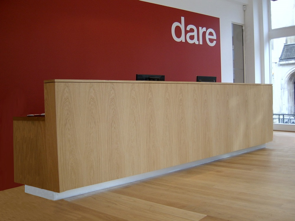 Reception desk at Dare Digital