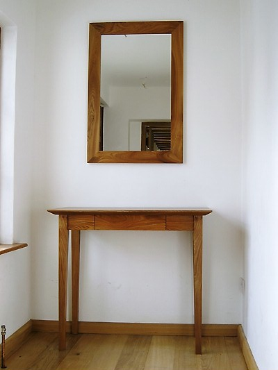 Elm Table and Mirror