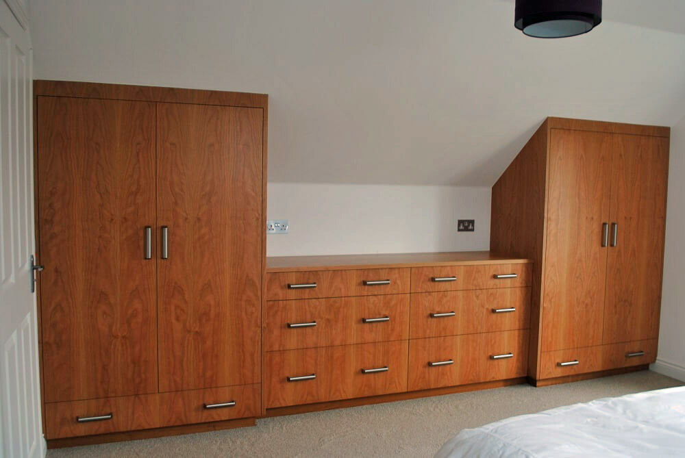 Cherry Fitted Bedroom Cupboards and Drawers