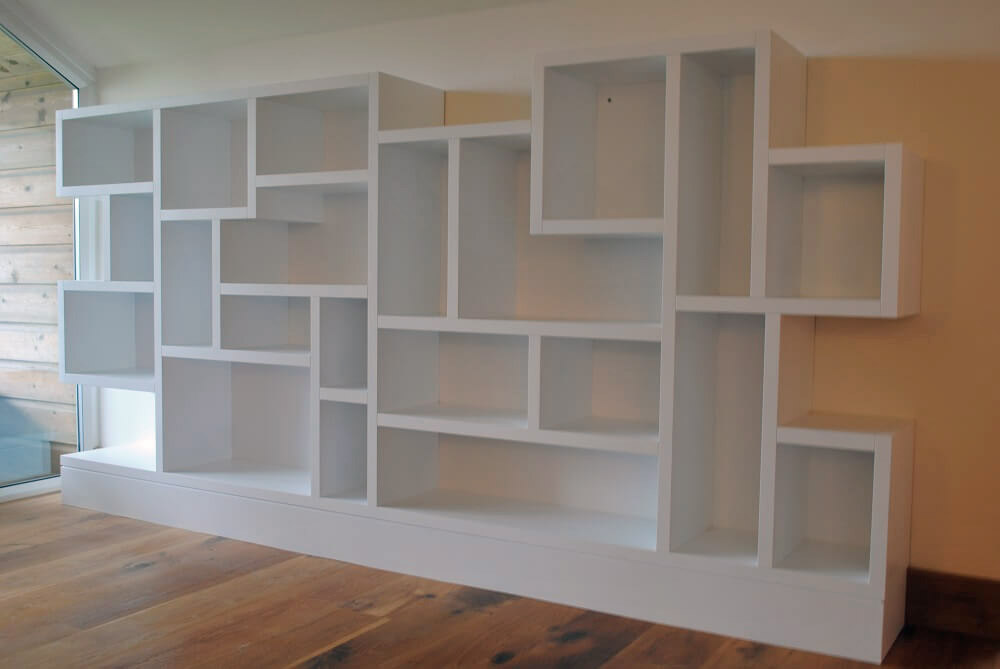 Painted Storage Wall