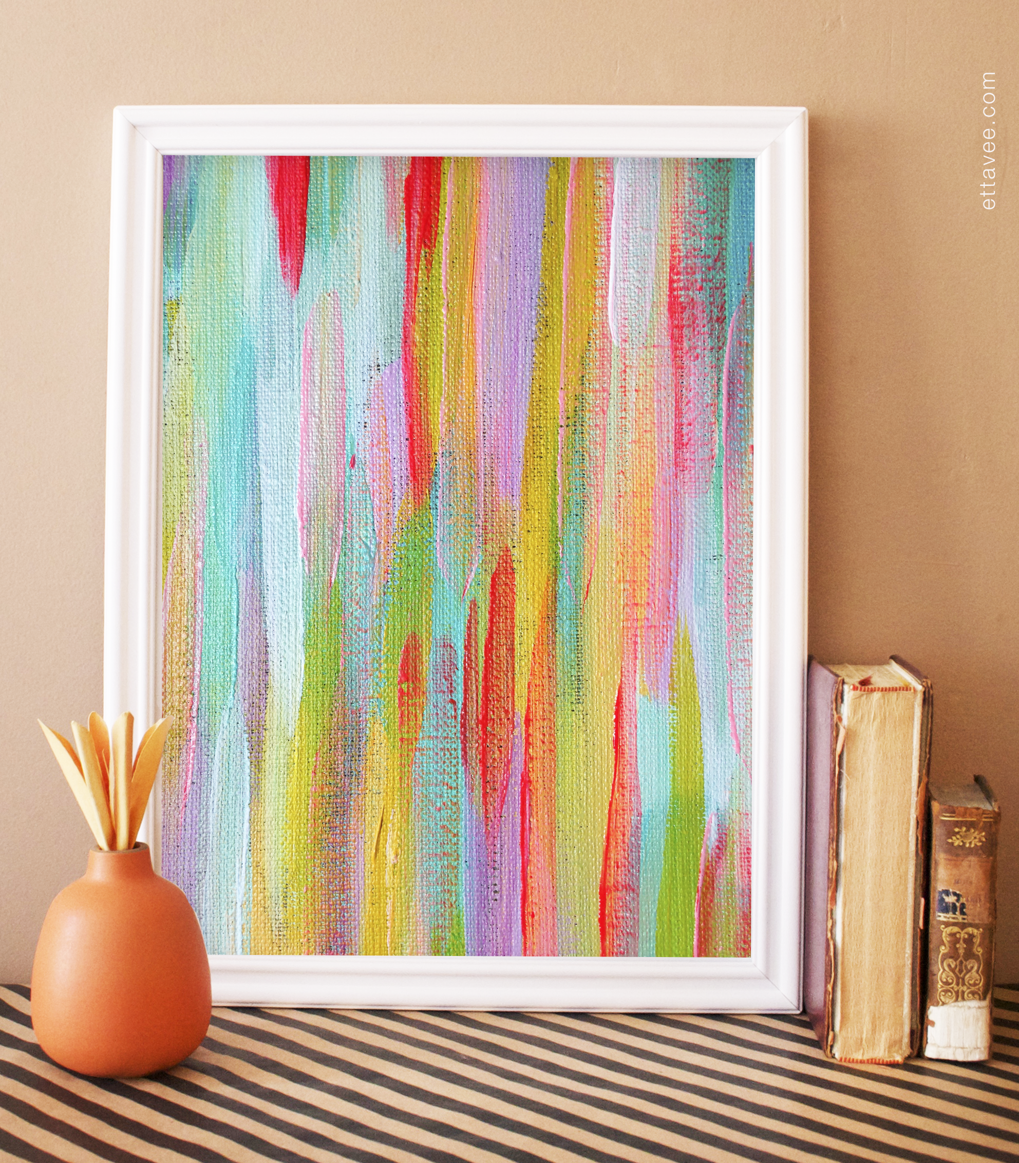 painted rainbow print - available on etsy!