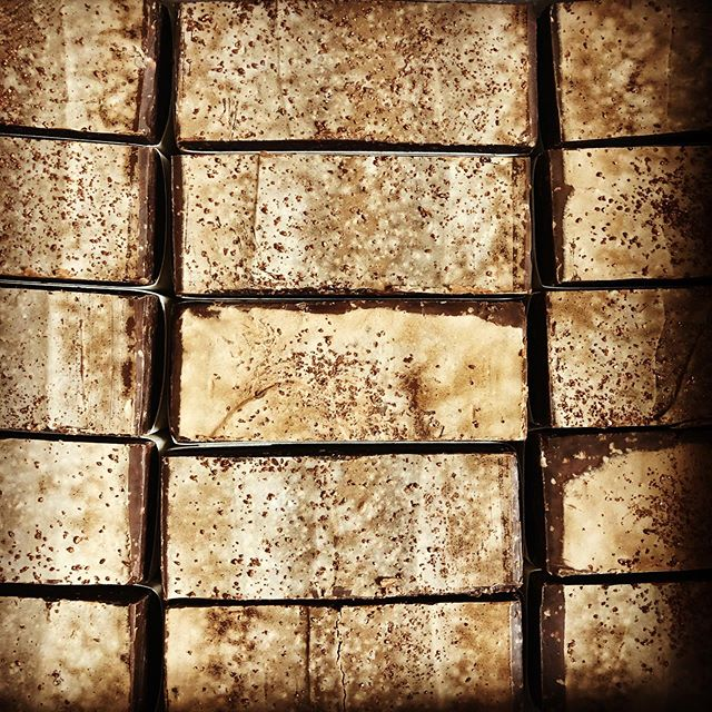 At long last, our Sea Salt & Cocoa Butter bar is back for the holiday season.  First batch available only @chocology_unlimited - more soon! #chocolate #indulge #luxury #bath #skin #soap #natural