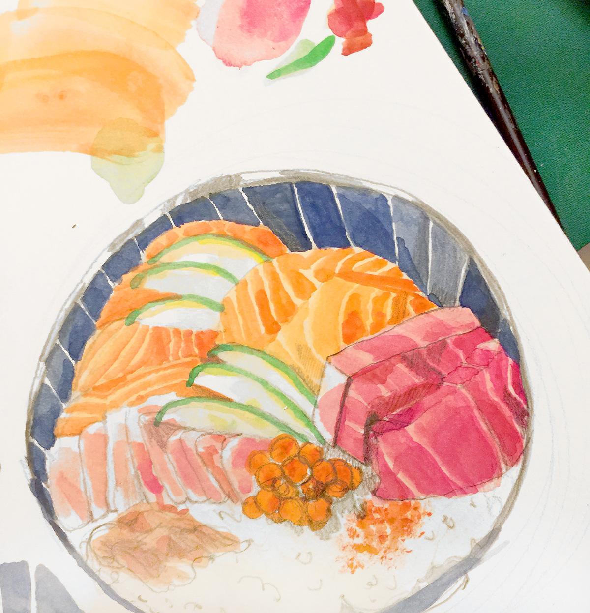 JennyAcosta-Sashimi-Drawing-sketch