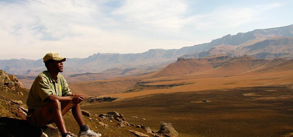 taking it in . Drakensberg