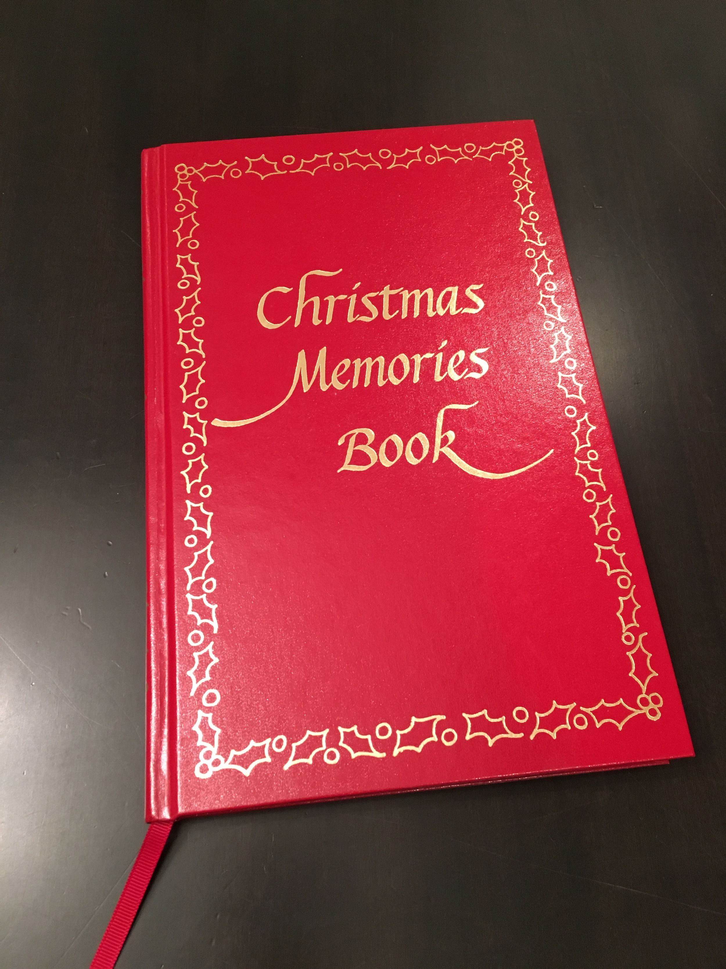 Here is a  thoughtful  Pinch to give to your family.A couple of years ago I bought this book off of Amazon to minimize the pressure I put on myself to have these wonderful scrapbooks of our holiday seasons. Nowadays I put a copy of the holiday card we send out each year and then try to answer some of the pre-written questions inside to correspond.