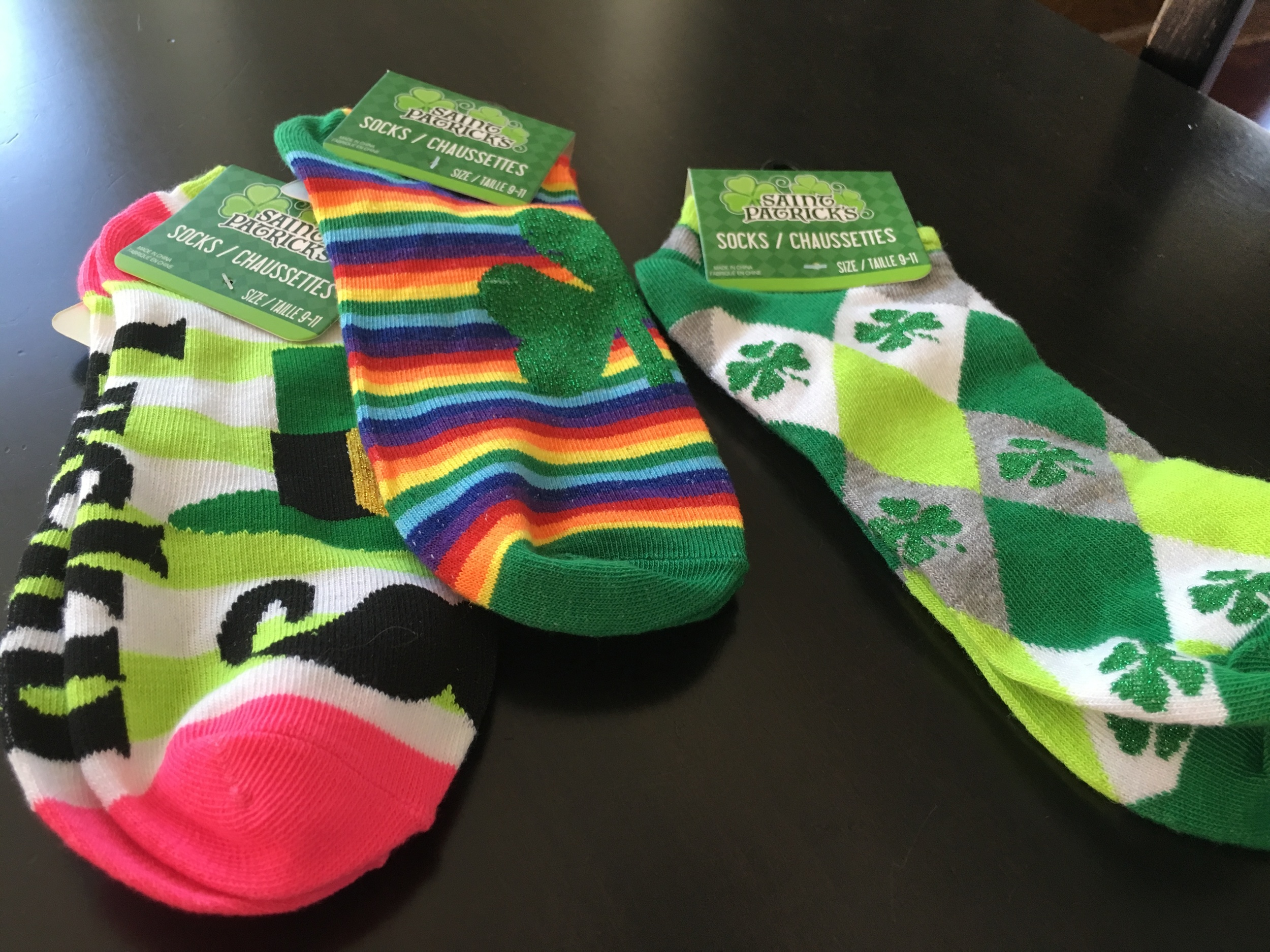 Socks from Dollar Tree - $1 each.