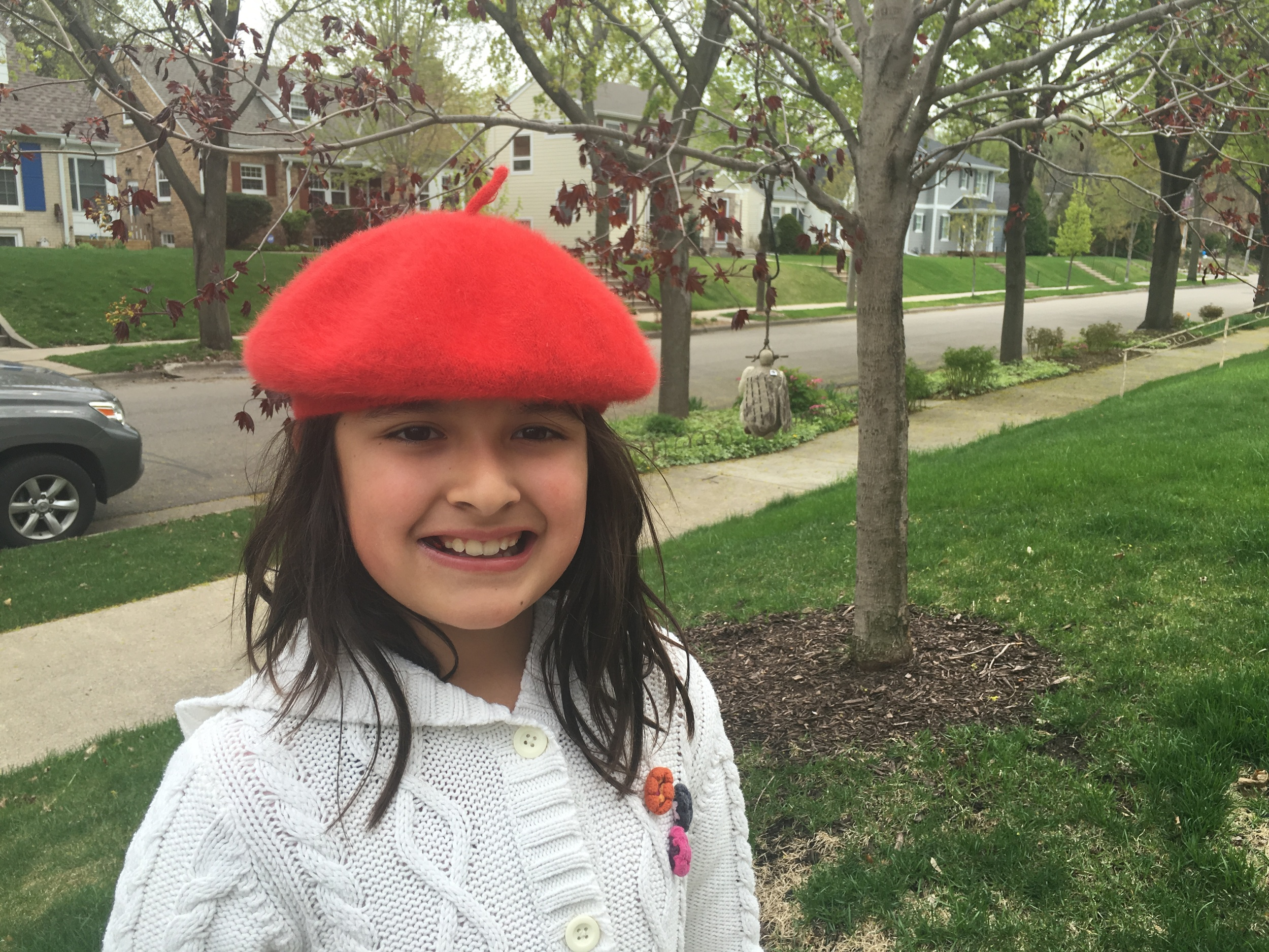 """My  Thoughtful Pinches  for the kids'main teachers,my friends and family will include this picture of Bella in her Raspberry (ish) baret on the CD cover of """"A Mother's Mix 2016"""". This year's  COMPILATION INCLUDES TRIBUTES TO PRINCE & BOWIE.  Click on   this link   to get the history of """"A Mother's Mix""""."""