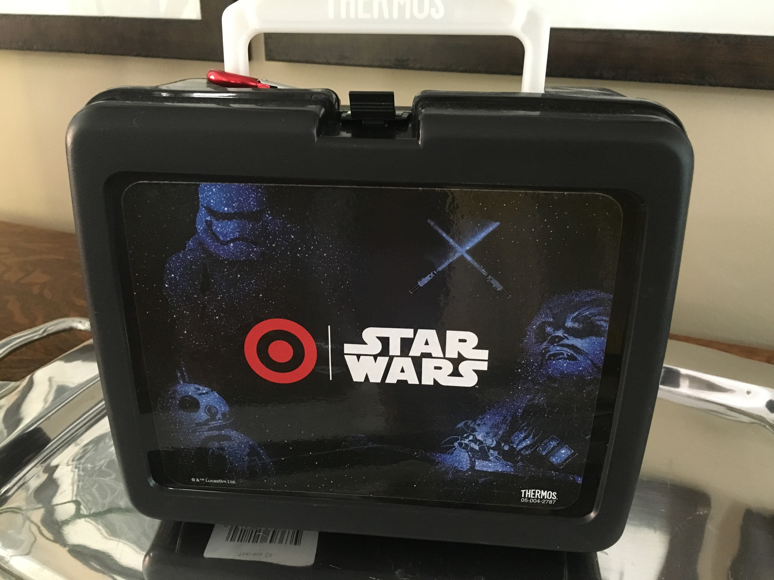 The kids and I were at Target and they gave us two of these lunch boxes. Free. Thank you!