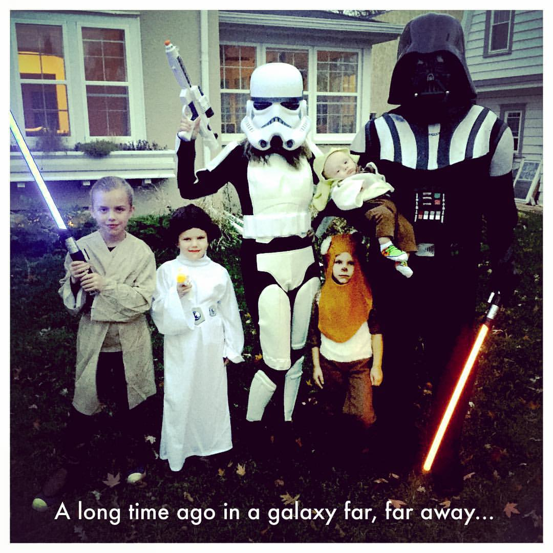 And look at the Collins Family, the Force is definitely with them!